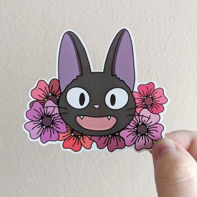 Witch's Cat Vinyl Sticker