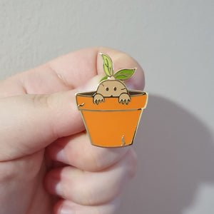 Baby Screaming Plant Enamel Pin