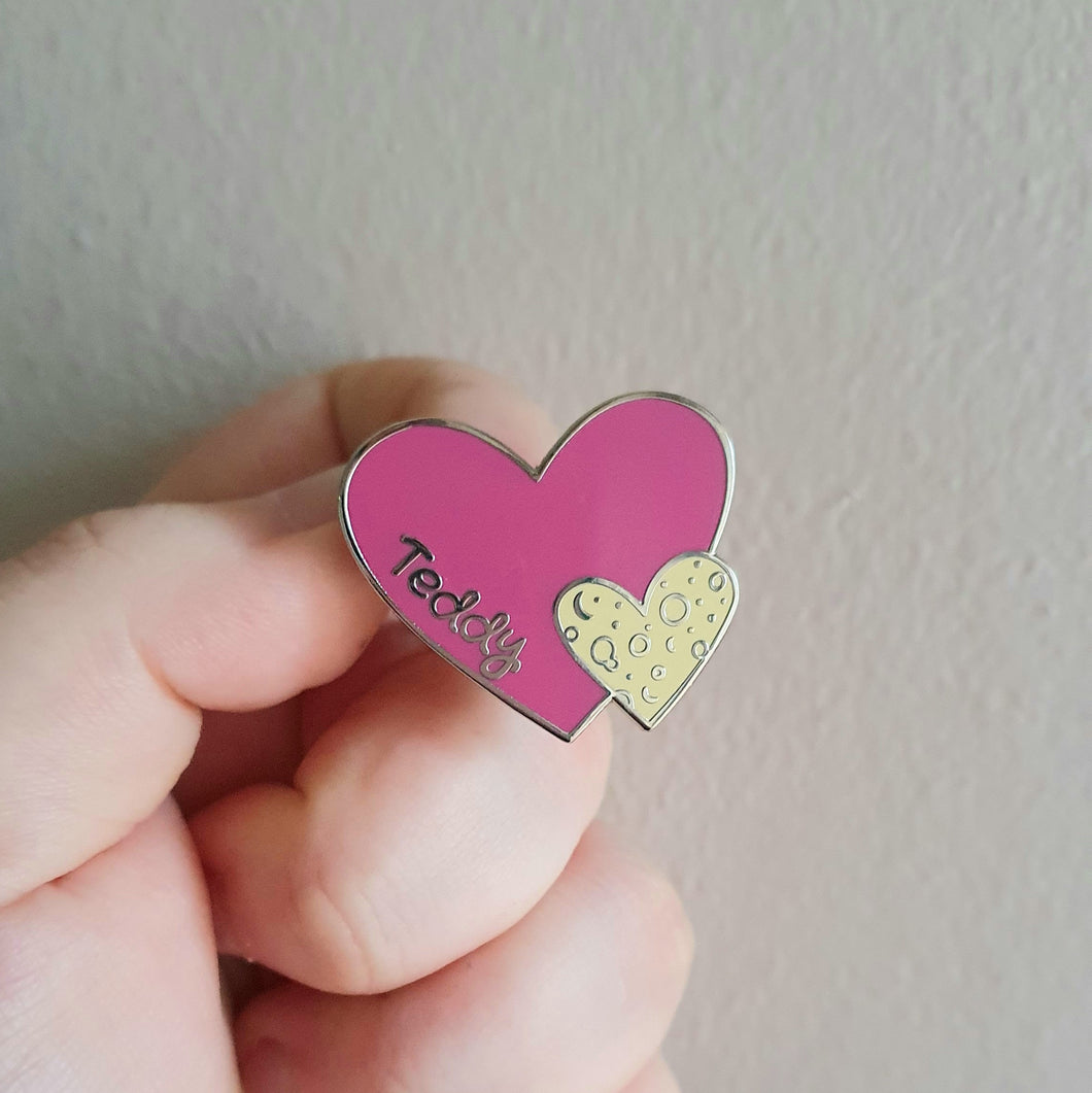 Teddy Heart Enamel Pin