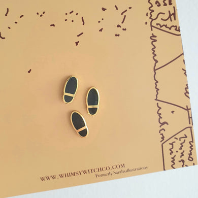3 Mini Footprint Enamel Pins