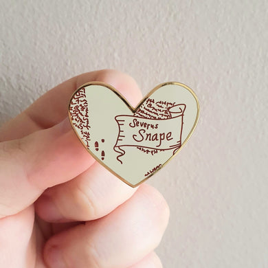 Potions Master Map Heart Enamel Pin