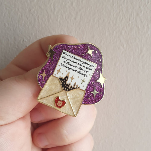 Welcome Letter Enamel Pin