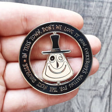 Load image into Gallery viewer, Halloween Mayor Spinning Enamel Pin