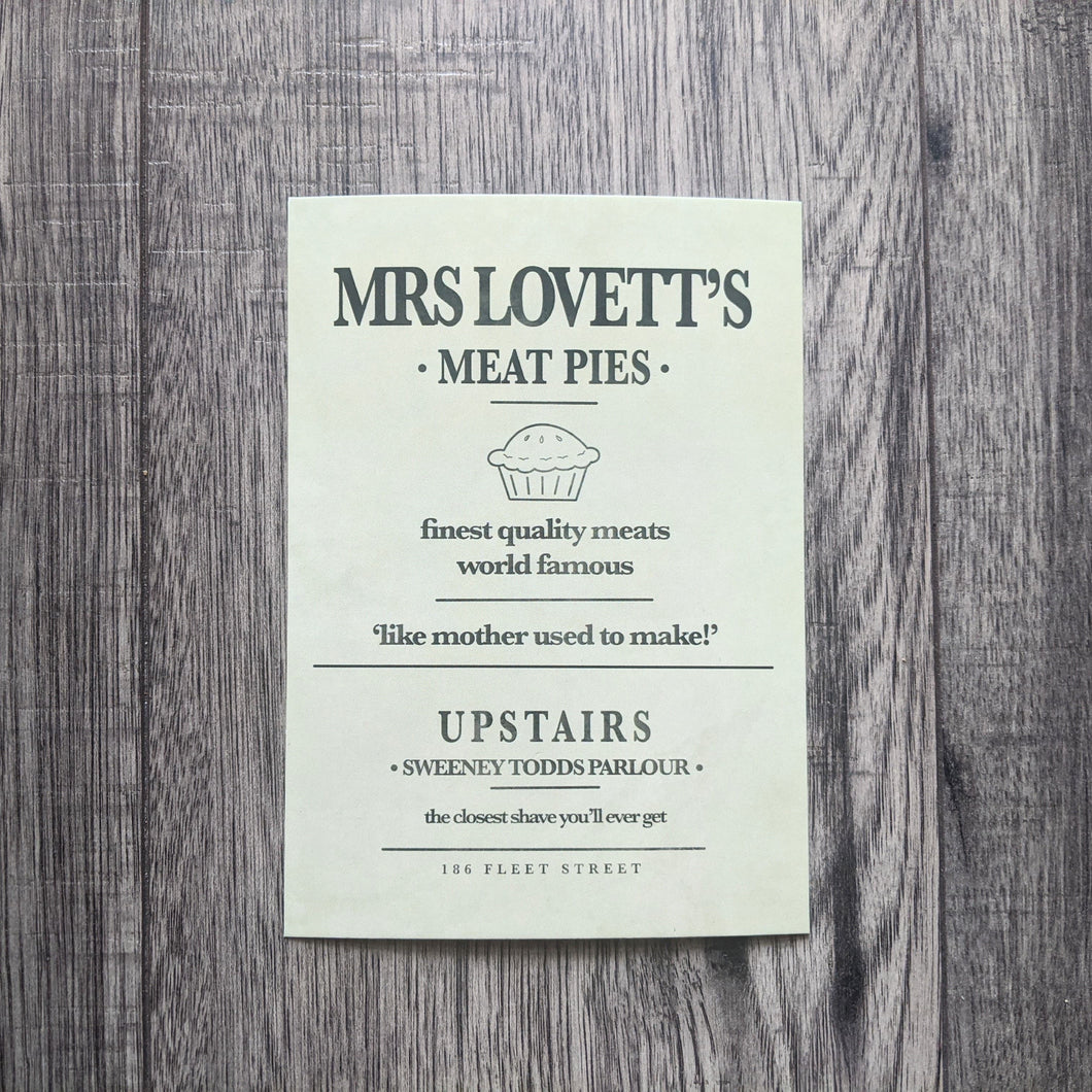 Meat Pies Postcard