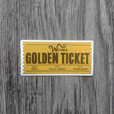 Gold Ticket Sticker