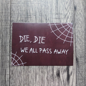 We All Pass Away Postcard