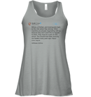 Apparel Bella Women's Flowy Tank / Athletic Heather / S Trump Quote Twitter PT170504