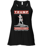 Apparel Bella Women's Flowy Tank / Black / S Trump America First PT170502