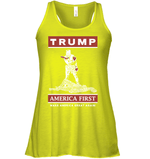 Apparel Bella Women's Flowy Tank / Neon Yellow / S Trump America First PT170502