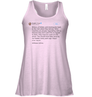 Apparel Bella Women's Flowy Tank / Soft Pink / S Trump Quote Twitter PT170504
