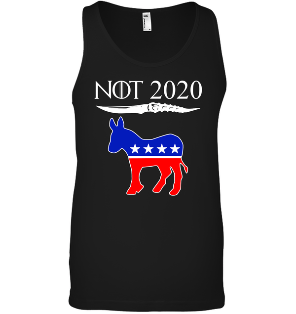 Apparel Canvas Unisex Ringspun Tank / Black / XS Not Today Trump For 2020 PL004