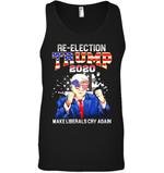 Apparel Canvas Unisex Ringspun Tank / Black / XS Re Election Trump 2020 PT170503