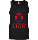 Apparel Canvas Unisex Ringspun Tank / Black / XS Trump We Have A Lion PL005