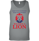 Apparel Canvas Unisex Ringspun Tank / Deep Heather / XS Trump We Have A Lion PL005