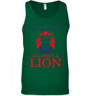 Apparel Canvas Unisex Ringspun Tank / Kelly Green / XS Trump We Have A Lion PL005