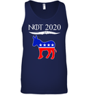 Apparel Canvas Unisex Ringspun Tank / Navy / XS Not Today Trump For 2020 PL004