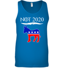 Apparel Canvas Unisex Ringspun Tank / Neon Blue / XS Not Today Trump For 2020 PL004