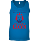 Apparel Canvas Unisex Ringspun Tank / Neon Blue / XS Trump We Have A Lion PL005