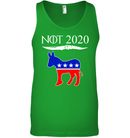 Apparel Canvas Unisex Ringspun Tank / Neon Green / XS Not Today Trump For 2020 PL004