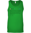 Apparel Canvas Unisex Ringspun Tank / Neon Green / XS Support Trump Twitter PL006
