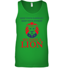 Apparel Canvas Unisex Ringspun Tank / Neon Green / XS Trump We Have A Lion PL005