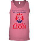 Apparel Canvas Unisex Ringspun Tank / Neon Pink / XS Trump We Have A Lion PL005