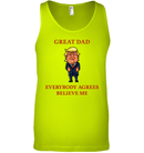 Apparel Canvas Unisex Ringspun Tank / Neon Yellow / XS Great Dad Trump 2020 PL 001