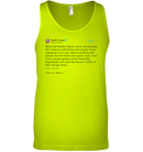 Apparel Canvas Unisex Ringspun Tank / Neon Yellow / XS Support Trump Twitter PL006