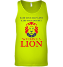 Apparel Canvas Unisex Ringspun Tank / Neon Yellow / XS Trump We Have A Lion PL005
