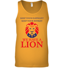 Apparel Canvas Unisex Ringspun Tank / Orange / XS Trump We Have A Lion PL005