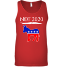 Apparel Canvas Unisex Ringspun Tank / Red / XS Not Today Trump For 2020 PL004