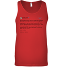 Apparel Canvas Unisex Ringspun Tank / Red / XS Support Trump Twitter PL006