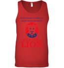 Apparel Canvas Unisex Ringspun Tank / Red / XS Trump We Have A Lion PL005