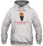 Apparel Unisex Heavyweight Pullover Hoodie / Ash Grey / S Great Dad Trump 2020 PL 001