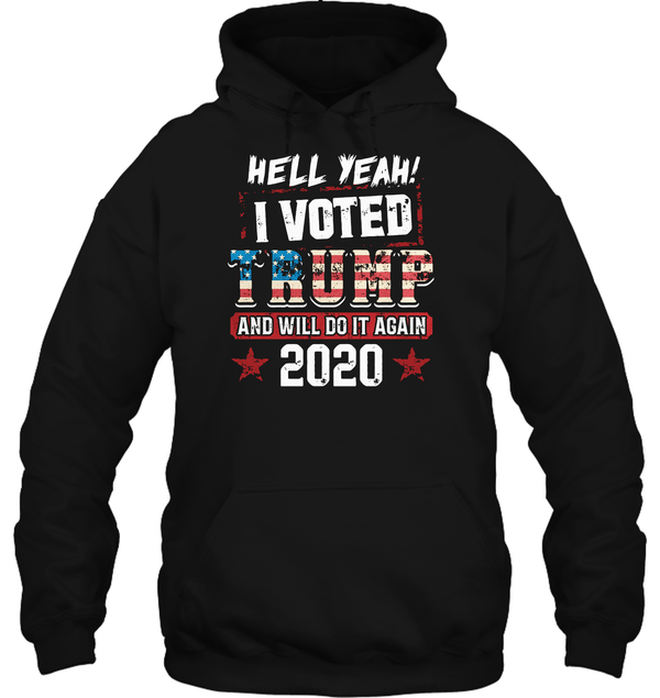 Apparel Unisex Heavyweight Pullover Hoodie / Black / S I Voted Trump 2020 PT170501