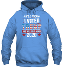 Apparel Unisex Heavyweight Pullover Hoodie / Carolina Blue / S I Voted Trump 2020 PT170501