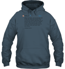 Apparel Unisex Heavyweight Pullover Hoodie / Dark Heather / S Trump Quote Twitter PT170504