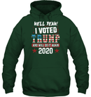 Apparel Unisex Heavyweight Pullover Hoodie / Forest Green / S I Voted Trump 2020 PT170501