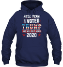 Apparel Unisex Heavyweight Pullover Hoodie / Navy / S I Voted Trump 2020 PT170501