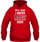 Apparel Unisex Heavyweight Pullover Hoodie / Red / S I Voted Trump 2020 PT170501