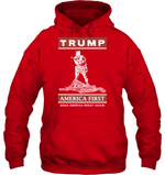 Apparel Unisex Heavyweight Pullover Hoodie / Red / S Trump America First PT170502