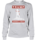 Apparel Unisex Long Sleeve Classic Tee / Ash Grey / S Trump America First PT170502