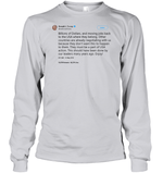 Apparel Unisex Long Sleeve Classic Tee / Ash Grey / S Trump Quote Twitter PT170504