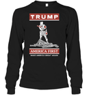 Apparel Unisex Long Sleeve Classic Tee / Black / S Trump America First PT170502