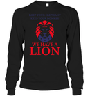 Apparel Unisex Long Sleeve Classic Tee / Black / S Trump We Have A Lion PL005
