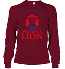 Apparel Unisex Long Sleeve Classic Tee / Cardinal Red / S Trump We Have A Lion PL005