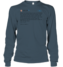Apparel Unisex Long Sleeve Classic Tee / Dark Heather / S Support Trump Twitter PL006
