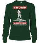 Apparel Unisex Long Sleeve Classic Tee / Forest Green / S Trump America First PT170502