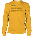 Apparel Unisex Long Sleeve Classic Tee / Gold / S Support Trump Twitter PL006
