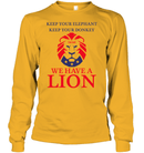 Apparel Unisex Long Sleeve Classic Tee / Gold / S Trump We Have A Lion PL005